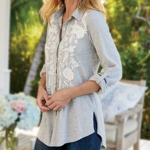 Soft Surroundings Madie Embroidered tunic